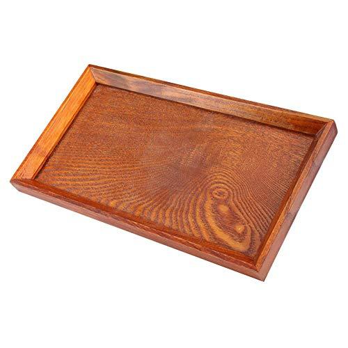 Houten dienblad voor Theeset Fruit Snoepjes Voedsel Home Decoratie, Natuurlijke Handgemaakte Rechthoekige Platter voor Keuken, Houten Ontwerper dienblad Set