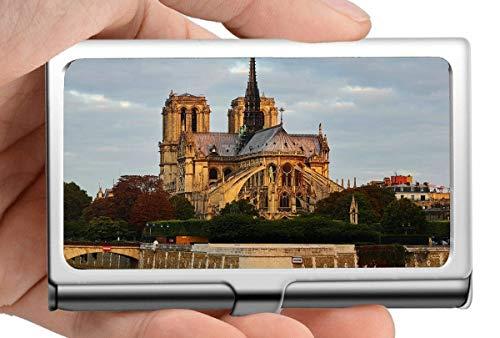 Professioneller Business-Kreditkartenetui/Ausweisetui, Paris Notre Dame Gebäude Inhaber einer französischen Spirit Business-Kreditkartenkarte