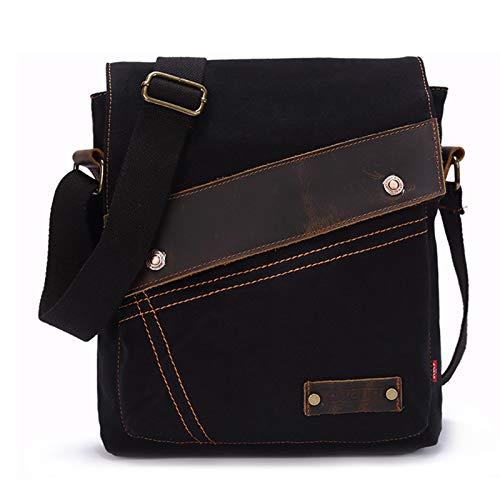 ANANAN Sling Bag Crossbody Backpack, Unisex Casual Backpack Canvas Rucksack Bookbag Satchel Hiking Backpack Travel Outdoor Shouder Bag,B