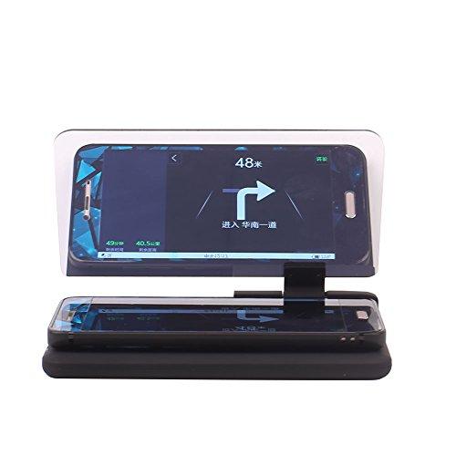 Sedeta® Réflecteur d'image de navigation de NAV GPS de téléphone portable de voiture HUD Support de téléphone portable Projecteur d'affichage tête haute