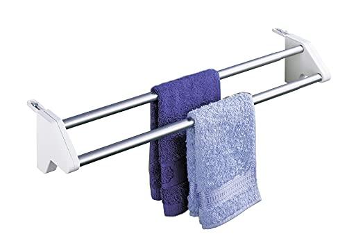 WENKO Heizkörper-Wäschetrockner Twin Wäsche Leine Heizung Bad Badezimmer Badezimmer-Accessoires