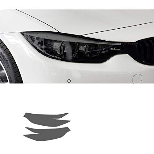ZYHZJC 2 Stück Auto Scheinwerfer Schutzfolie Scheinwerfer Restaurierung Transparent Schwarz TPU Aufkleber Zubehör für BMW 4 Series F32 F33 F36 2014-2019