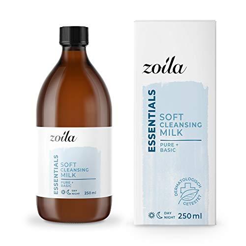 Reinigungsmilch Gesicht | 250ml zoila Cleansing Milk | Gesichtsreinigung | Ideal als Augen Make up Entferner | Mizellen Reinigungswasser Alternative