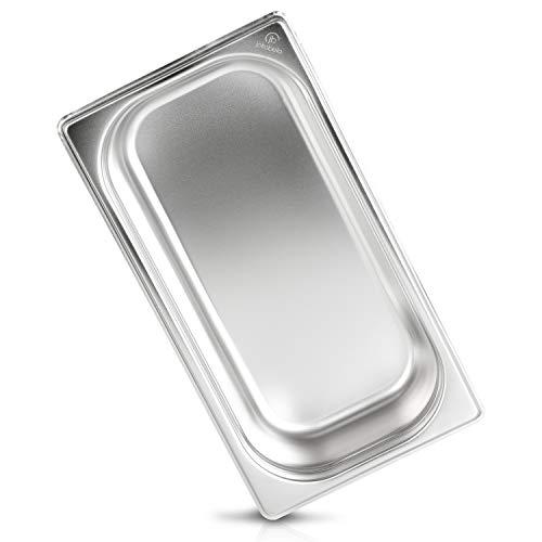 jokobela GN-Behälter :: ungelocht :: geeignet für Gaggenau, Miele und Siemens Dampfgarer (Edelstahl, Spülmaschine geeignet, Gastronorm 1/3, B 32,5 x T 17,6 x H 6,5 cm)