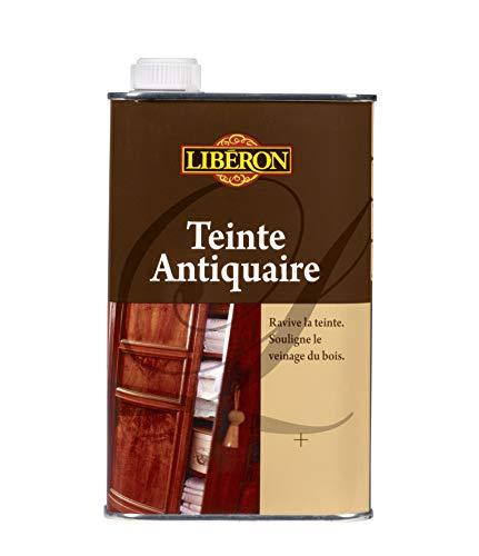 LIBERON Teinte antiquaire - Ravive la teinte - Souligne le veinage du bois, Chêne foncé, 0,5L
