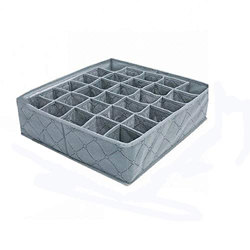 GYFHMY Caja de Almacenamiento de Ropa Interior, Divisor Gris de 30 cajones, Utilizado para almacenar Calcetines Ropa Interior Corbata Toalla Pañuelo Adecuado para Dormitorio Baño Oficina