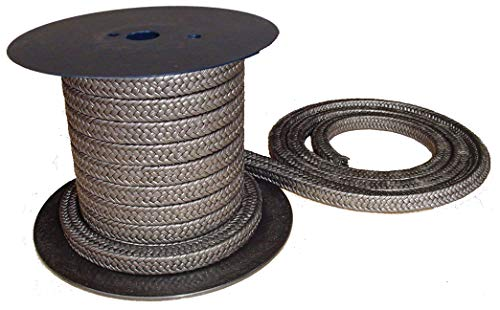 rope//braided  4mm Square x 1m long graphite Gland packing
