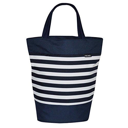 C-BAGS SHOPPER SAILOR Gepäckträger Fahrradtasche Tasche verschiedene Muster (navy)