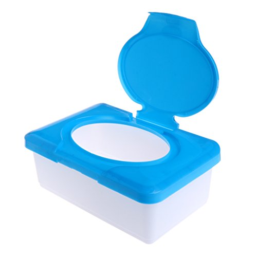 Stebcece Wipe Case Holder for Dry Wet Tissue Paper, PP Plastic (Blue)