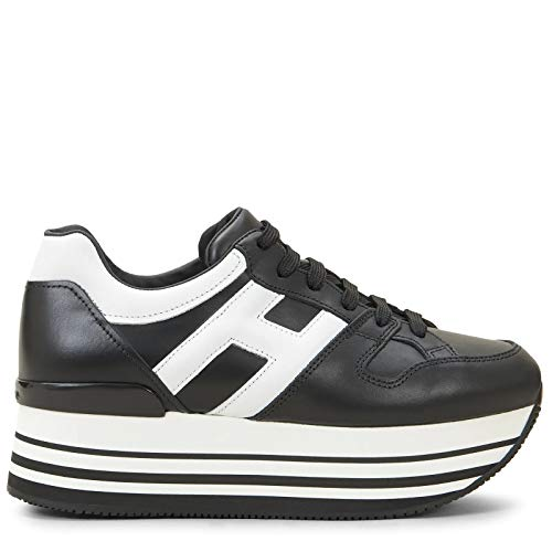 Hogan Luxury Fashion Damen HXW2830T548HQK0002 Schwarz Sneakers | Jahreszeit Permanent
