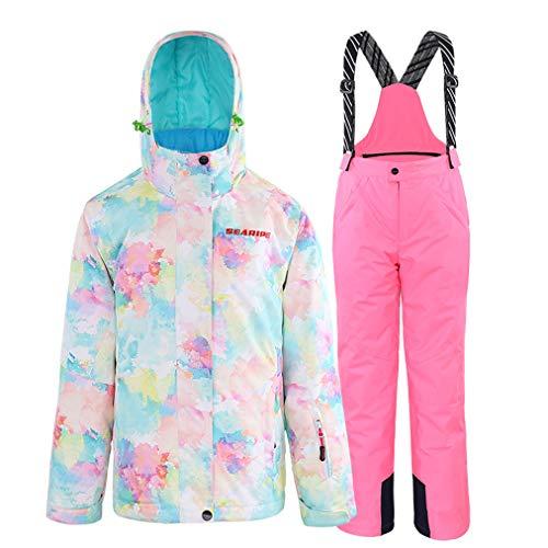Winterjas en broek voor meisjes, wintersport, outdoor, skipak, waterdicht, warm, snowboard, tops jas, pullover
