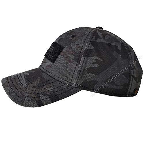ALPHA INDUSTRIES VLC Cap Streetwear Gorra Ajustable, Color: Black Camo