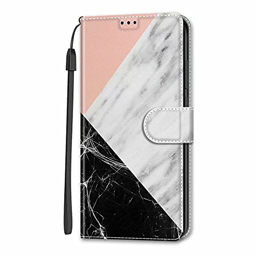 Miagon Wallet Case for Samsung Galaxy A71,Creative Pattern Flip Leather Case Cover with Credit Card Slot ID Card Holder Kickstand,Splicing Marble