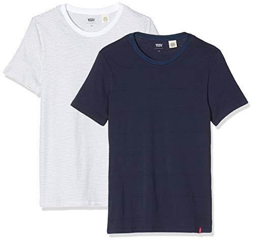 Levi's Slim 2pk Crewneck 1 T-Shirt, Multicolore (2 Pack...