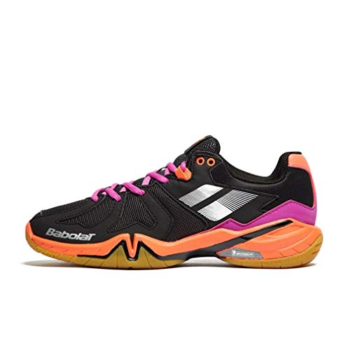 Babolat 2018 Shadow Spirit Women Shoe,Badminton/Racquetball/Squash/Indoor Tennis,Black/Purple/ Pink (6.0)