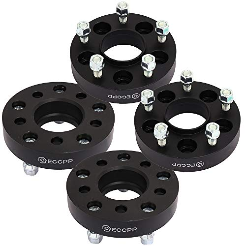 """ECCPP Replacement for 4X 1.25 Hub Centric Wheel Spacer Adapters 5x4.5 to 5x5 5 Lug for Jeep Wrangler JK Rims on A TJ YJ 1/2"""" x20 Studs"""