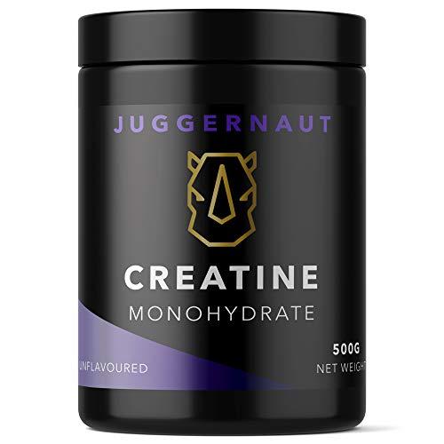 Juggernaut Creatine Monohydrate Powder, Unflavoured, 500g, Vegan Friendly