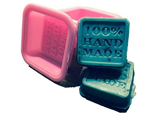 Nicebuty (10-pack) sapone stampi–100% Handmade Square Silicon–sapone