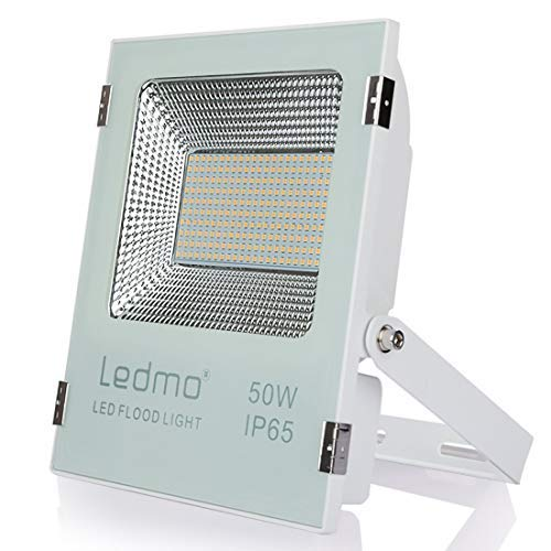 focos led exterior 50W 2700K Blanco cálido,foco proyector led IP65 Impermeable,focos led Super brillante SMD2835 5000lm exterior focos led,para el jardín,el patio,la pared