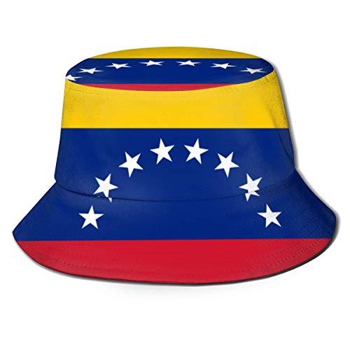 Lawenp Sombrero de Cubo con Bandera de Venezuela Unisex Plegable de Verano Cubo de Viaje Boonie Sombrero para el Sol Gorra de Pescador al Aire Libre