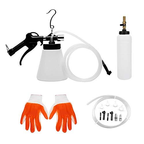 Qiilu Purgador de líquido de frenos, Universal Neumático Coche Universal Purgador de líquido de frenos Kit de herramientas de purga Cambiador de aceite Extractor Reemplazo