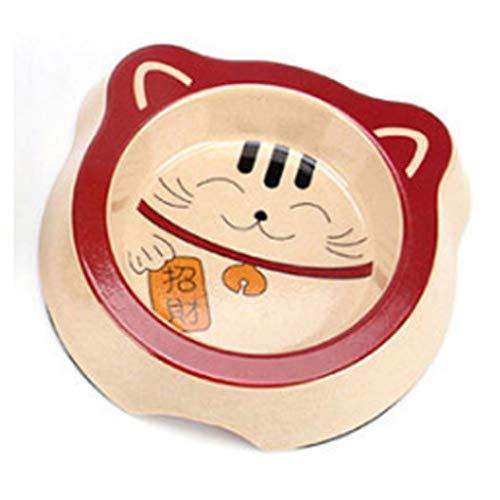 Yfdmbk Gato Akita Schnauzer Chow Chow Mascota Cara Solo Tazón Forma Creativa Antideslizante Cuenco Afortunado (Color : 05)