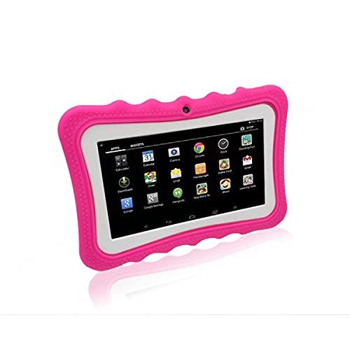 healthwen Puppy 7 Pulgadas Android 4.4 Quad Core Kids Tablet Pc 512Mb + 4Gb / 8Gb Aprendizaje Profesional Educación Tableta Computadora Regalo para niños Rosa 512 + 8G EU