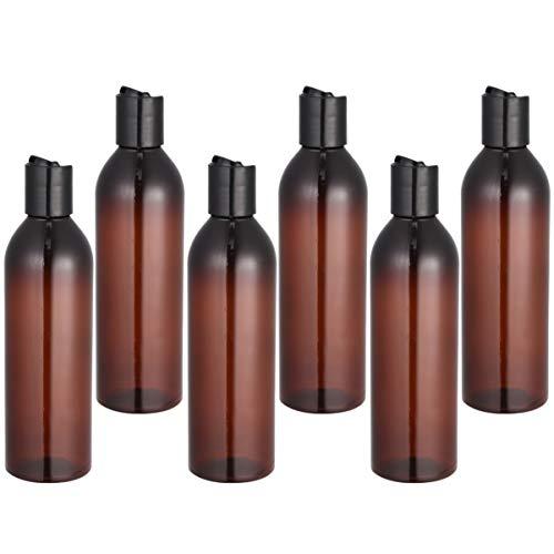 FRCOLOR - Lote de 6 botellas de tapón de prensa de 250 ml con tapón de prensa para loción en crema, marrón (Marrón) - O62SKJ46GTF1600EEMXYU