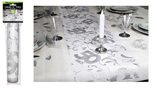 Surprisez vous - Chemin de table 50 ans - 28 cm x 5 m
