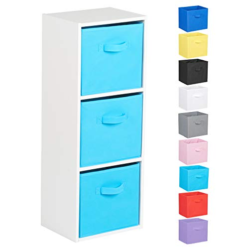 Hartleys 3 Tier White Cube Unit - Choice of Storage Boxes