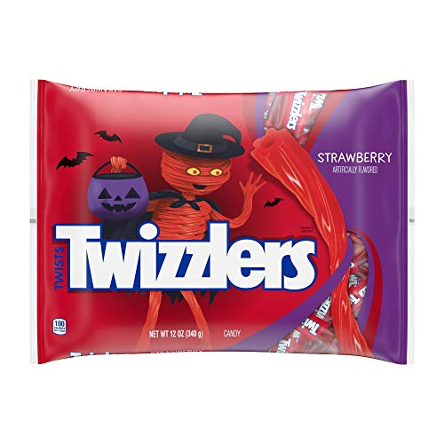 Hershey (1) Bag Twizzlers Twists Strawberry Flavored - Individually Wrapped Snack Size Pieces Halloween Candy - Net Wt. 12 oz