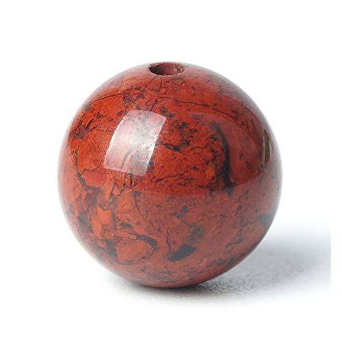 HETHYAN Cuentas de piedra natural de jaspe de sangre roja con piedras preciosas redondas sueltas de 6/8/10 mm, cuentas de rosario de cornalina roja (tamaño: 8 mm, 47 unidades)