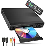 DVD Player for TV, ARAFUNA Small Mini DVD Player with HDMI 1080P All Region Free,Support HDMI AV Output, USB SD Input Remote Control, HDMI AV Cable Included