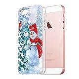 ZhuoFan Funda para iPhone SE / 5s / 5 Cárcasa Silicona Transparente con Dibujos Navidad Diseño Suave Gel TPU Antigolpes de Protector Bumper Case Cover Fundas para Apple iPhone 5s, Navidad 2
