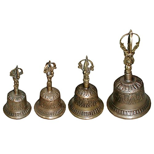 Tempelglocke Größe M Zepter und Glocke Gebetsglocke Handglocke Buddhistisch Buddha Temple Bell Meditation