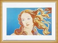 ポスター アンディ ウォーホル Details of Renaissance Paintings (blue) 額装品 ウッドベーシックフレーム(ナチュラル)