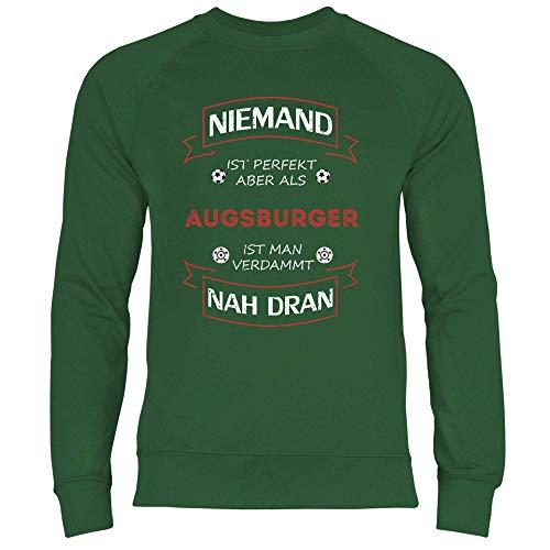 wowshirt Herren Sweatshirt Fußball Trikot Augsburger Augsburg, Größe:M, Farbe:Bottle Green