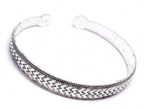Eclectic Shop Uk Tibetaans Zilver Zig Zag Armband Bangle Manchet Verstelbare Boheemse