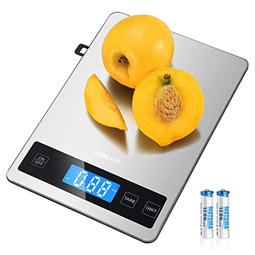 HOMEVER Kitchen Scale, 15kg Food Scale with 9 * 6.3in Big Panel, Stainless...