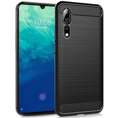 Dzxouui Compatible for ZTE Axon 10 Pro Case,Protective Phone Cover Shockproof Soft TPU Cases for ZTE Axon 10 Pro(DL-Black)