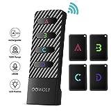 OOWOLF Key Finder, Wireless RF Item Locator Anti-Lost Alarm Item Tracker Finder Loud
