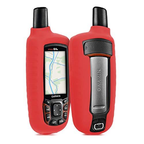 kwmobile Funda Compatible con Garmin GPSMAP 64 / 64s / 64st - Carcasa de Silicona para navegador GPS - Cover Rojo