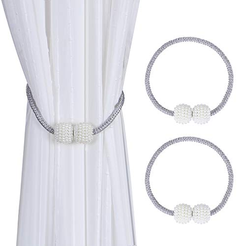 APIWO Home Curtain Ties No Tools RequiredDecorative Drape Tie Backs Holdback Holder for Window Draperies Fabric