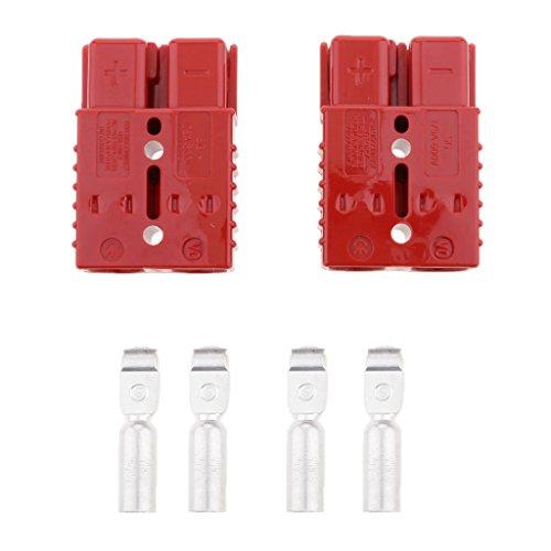 Non-brand 2 Sätze 600V 175A / 120A / 50A Batteriestecker Schnellkupplung Trennen Sie Die Windenstecker des Anhängers - Rot - 175a