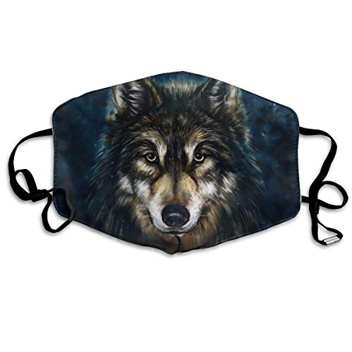 Mundschutz Wolf Painting Personalisierte Mundabdeckung Gesichtsabdeckung winddichtes warmes Gesichtstuch kann beim Ausgehen wiederverwendet Werden