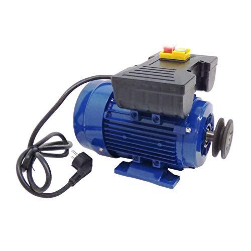 Motor de 1,1Kw / 1,5 CV monofásico 220V para hormigonera con polea y cable