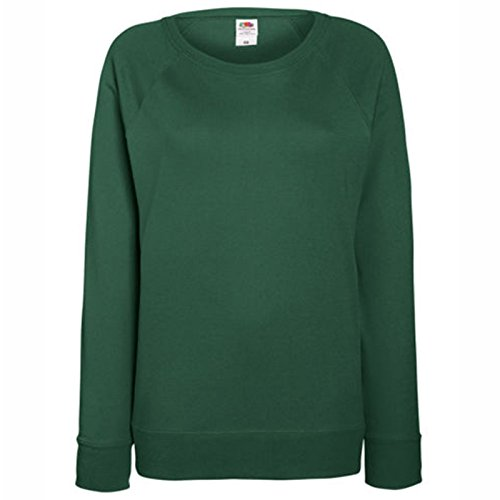 Fruit of the Loom Damen Modern Sweatshirt Gr. Small, flaschengrün