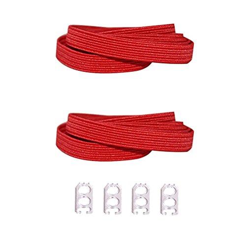 D&D Lacci Scarpe Elastici, Piatti Senza Nodo Stringhe Elastiche per Scarpe Bambini Adulti
