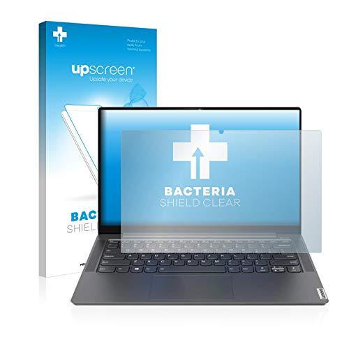 upscreen Antibakterielle Schutzfolie kompatibel mit Lenovo Yoga S740 14'' klare Bildschirmschutz-Folie