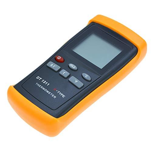 iFCOW Termómetro Digital Medidor de Temperatura Industrial con Una Sonda Termómetro de Tipo K Digital Retención de Datos Apagado Automático